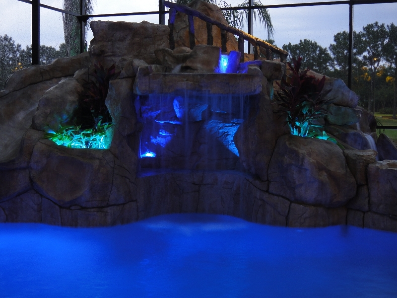 led waterfall lighting