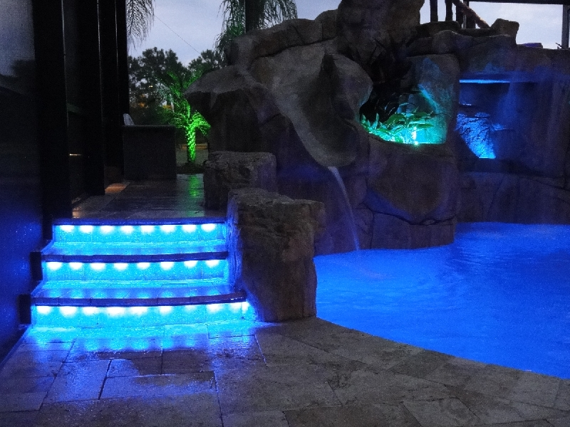 led pool step lighting