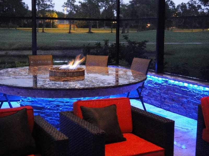 led fire table lighting