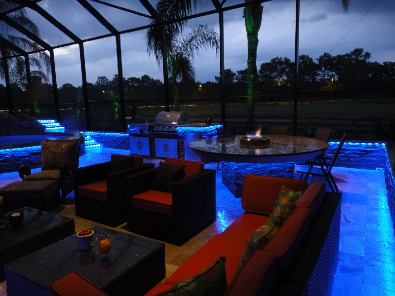 led pool patio lighting