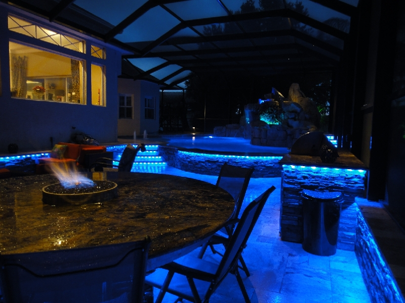 led pool screen lighting