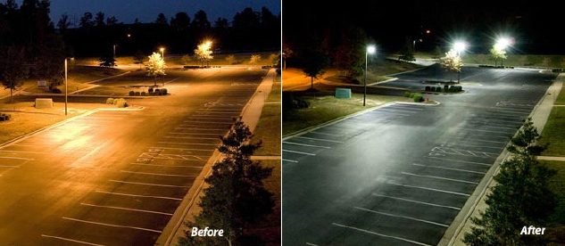 led-parking-lot