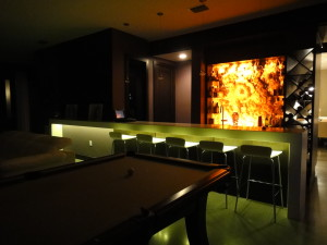 Bar with LED Lighting