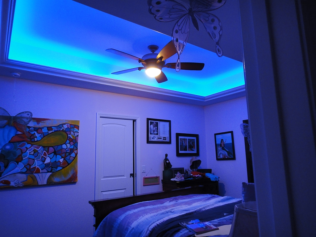 led lighting strips bedroom viewing gallery