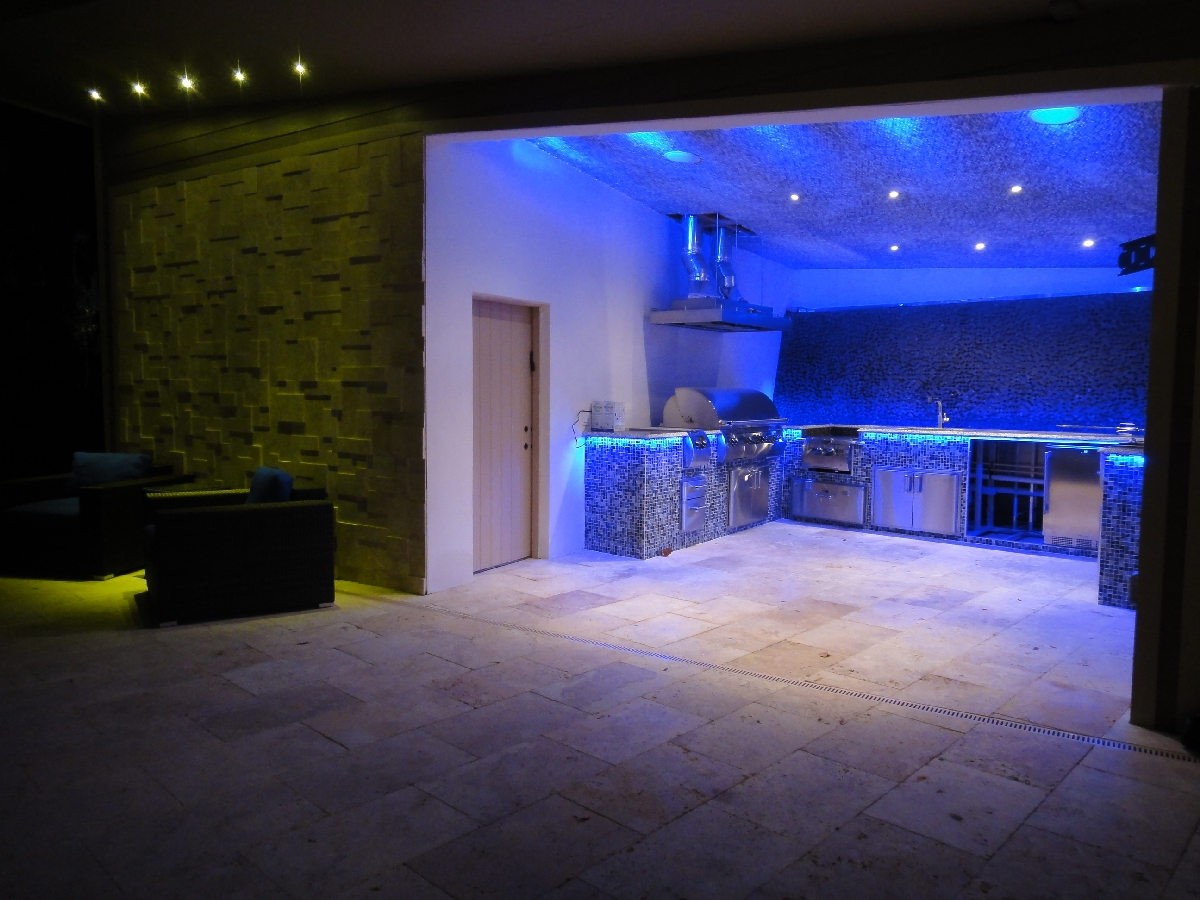 Outdoor Kitchen Lighting. LED Outdoor Kitchen Lighting
