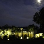 House Lit with LED Landscape Lights