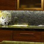 Euro style cabinets with low profile lighting